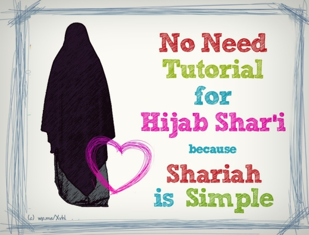 no need tutorial for hijab syar'i
